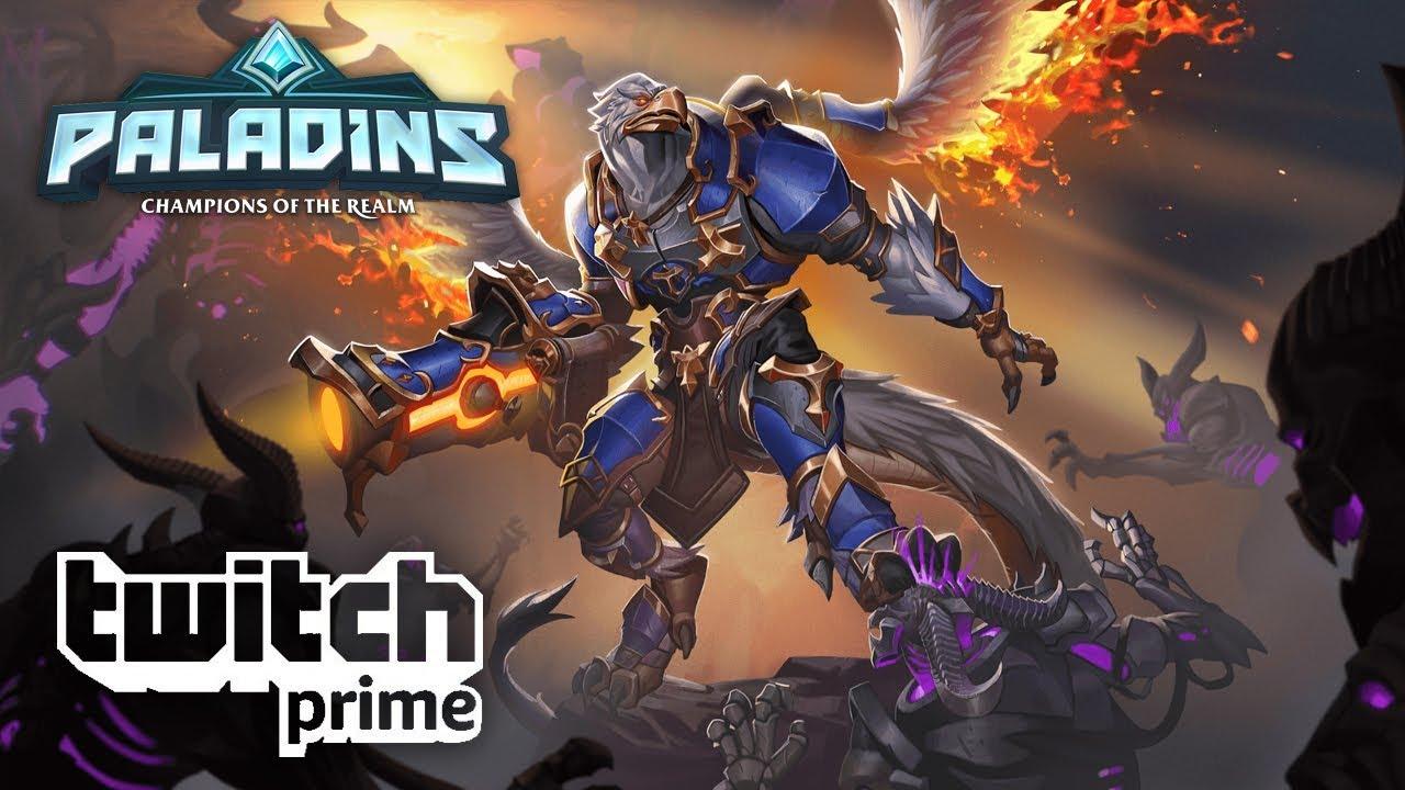 Paladins - Pyre Warrior Drogoz - Free with Twitch Prime!