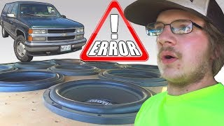 Sundown's CHEAPEST Subs Hitting 150db w/ Roger's HUGE Ported Subwoofer Box & 9 12 inch Subwoofers