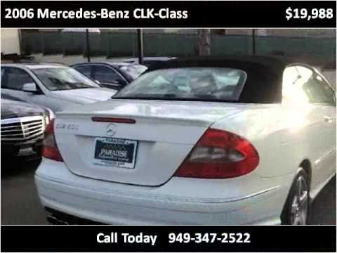 2006 mercedes benz clk class used cars san juan capistrano for Mercedes benz san juan used cars