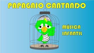 Cardápio -  Proteção dos Animais Silvestres - papagaio cantando - parrot singing