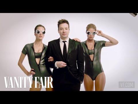 Jimmy Fallon Hits the Streets with Bikini-Clad Supermodels-February 2014 Cover-Vanity Fair