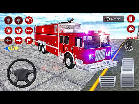 Real Fire Truck Driving Simulator: Fire Fighting Fireman's Daily Job - Best Android GamePlay #2  