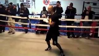 Zab Judah Shadow Boxing -  Jayson Cross Esnews Boxing