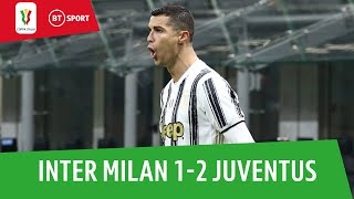 Inter vs Juventus (1-2) | Juve in charge after Ronaldo double in first leg | Coppa Italia Highlights