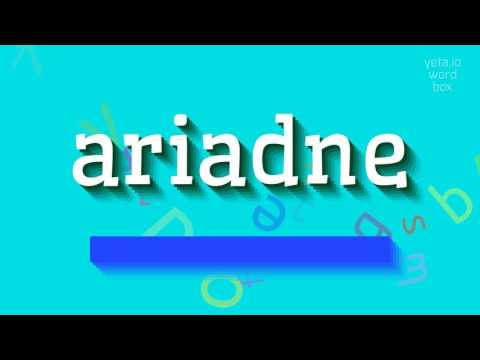 "How to say ""ariadne""! (High Quality Voices)"