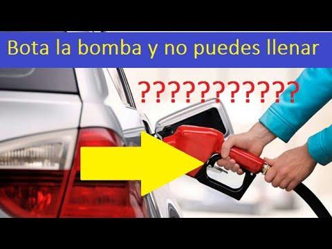 Causas porque no puedes llenar el tanque de gasolina