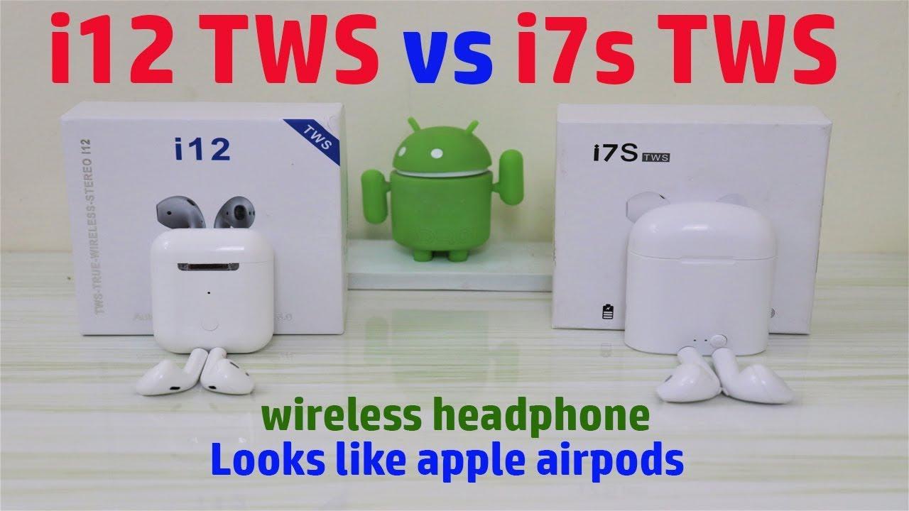 Hindi    i12 TWS vs i7s TWS wireless headphone