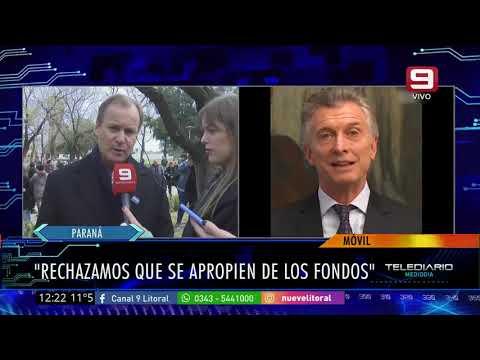 Gustavo Bordet, sobre la judicialización de las medidas de Macri