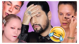 Beauty Guru's - Pro MUA Reacts #Makeup