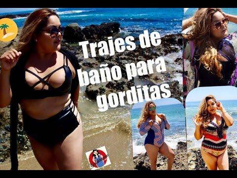 Modelando trajes de baño para Gorditas (outfits para playa ...