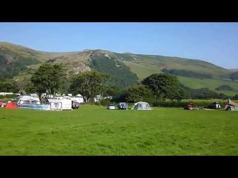 Idyllic Llanllwyda  Camping & Touring Site Panorama Snowdonia Wales