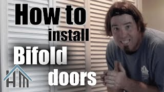 How to install replace a bifold closet door. Easy! Home Mender