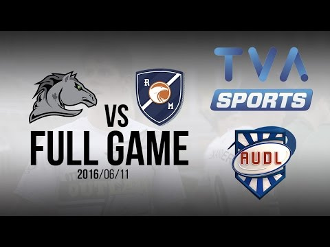 Ottawa Outlaws VS Royal | GAME | AUDL | TVA SPORTS | Ultimate frisbee | Montreal Royal