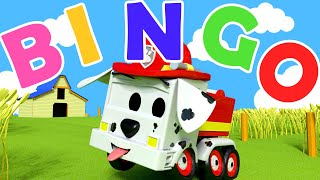 Bingo Nursery Rhymes Songs for Children with Trucks of Car City