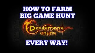 How to Farm Big Game Hunt [For everyone] | Drakensang Online