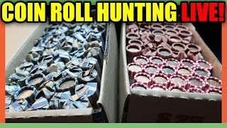 COIN ROLL HUNTING FOR RARE COINS!! COIN GIVEAWAY!!