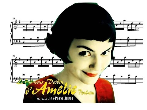 Amélie Piano Soundtrack - Comptine d'Un Autre Été (Movie Sheet Music)