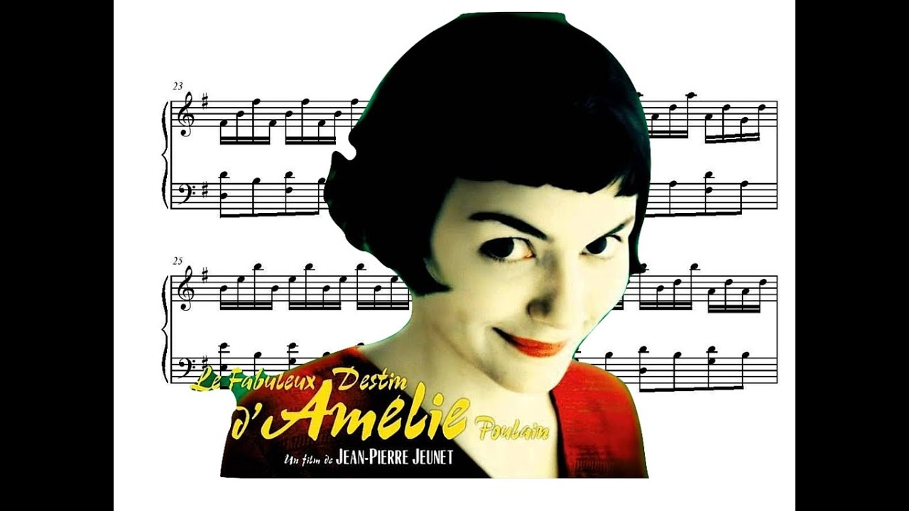 Amélie Piano Soundtrack Comptine D Un Autre été Movie Sheet Music