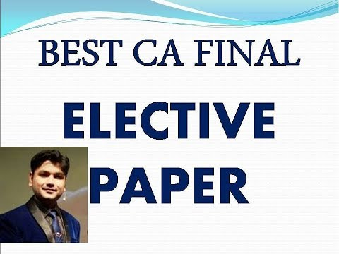 ICAI NEW SYLLABUS SERIES VIDEO NO 1 BY AADITYA JAIN BEST ELECTIVE PAPER CHOICE ANALYSIS