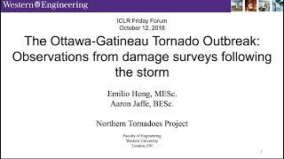 ICLR Friday Forum: Ottawa/Gatineau tornado outbreak damage surveys (October 12, 2018)