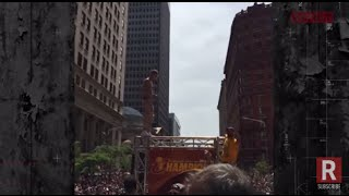 Download Machine Gun Kelly Performs At Cleveland Cavaliers Championship Parade MP3 song and Music Video
