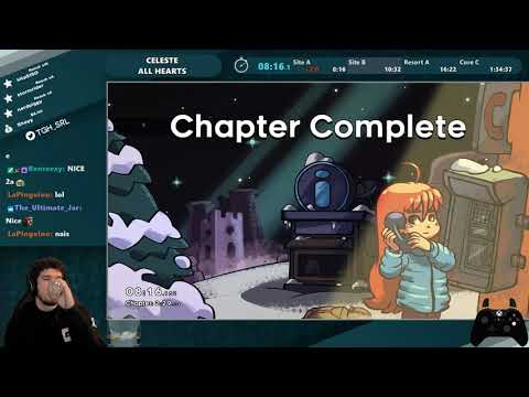 World Record - Celeste All Hearts Speedrun in 1:28:13