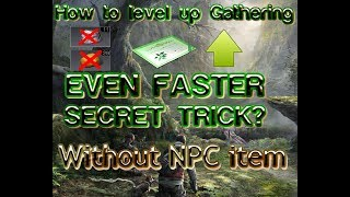 Lifeafter Gathering Tricks, how to level up gathering EVEN FASTER (English Version)