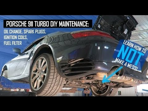 Porsche 911 Turbo DIY Maintenance 996 997 Spark Plugs Ignition Coils Fuel Filter Oil Change