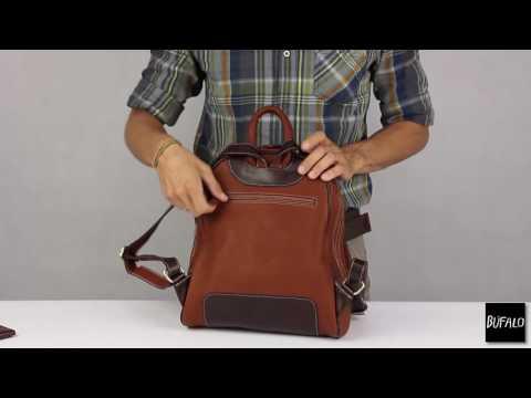 BPJ09 Молодежный кожаный рюкзак