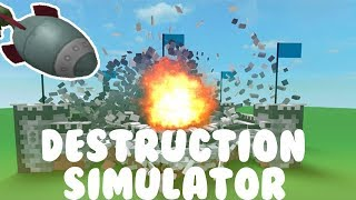 playing destruction simulator in ROBLOX