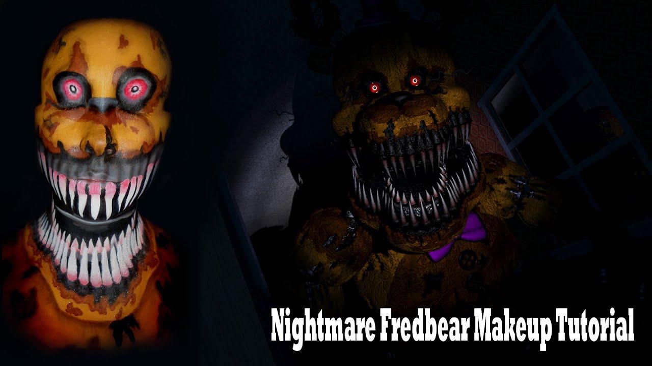 Nightmare fredbear makeup tutorial youtube