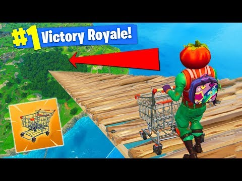 RIDING CART From *MAX HEIGHT* In Fortnite...
