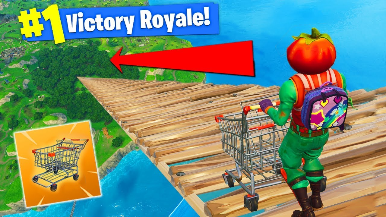 RIDING CART From *MAX HEIGHT* In Fortnite Battle Royale!