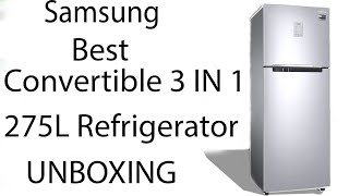 Samsung 275L 3 Star Double Door Refrigerator RT30T3743S9 HL Refined Inox Convertible UNBOXING