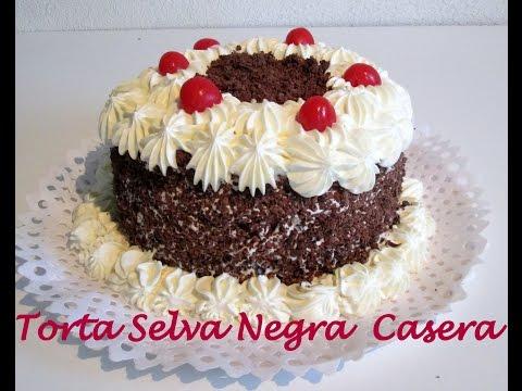 Torta selva negra paso a paso silvana cocina youtube for Como decorar una torta facil y rapido