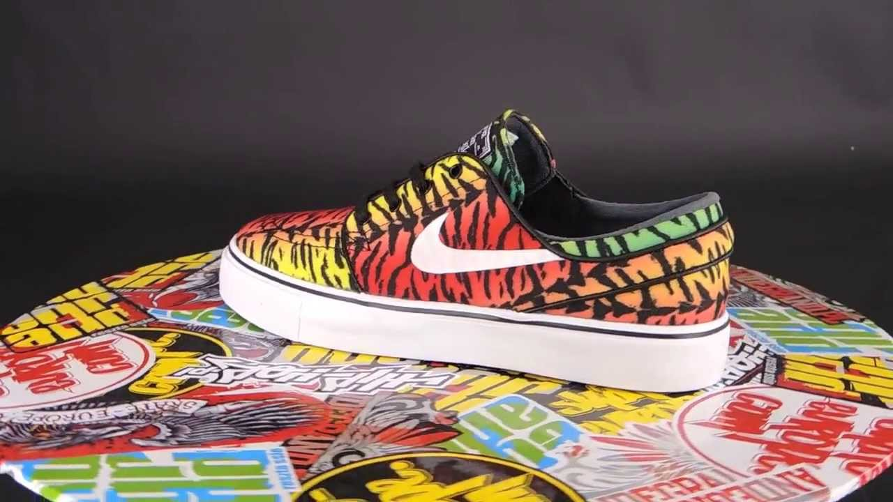 best service e99dc 11976 NIKE SB Zoom Stefan Janoski CNVS  CHILLING RED  WHITE - LUCID GREEN -  TRUE YELLOW  - YouTube