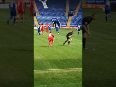 Celeb charity football match Sam bailey