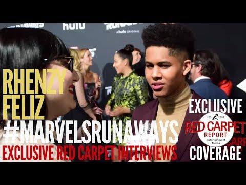 Rhenzy Feliz interviewed at the Premiere of Marvel's Runaways streaming on Hulu #WeAskMore 