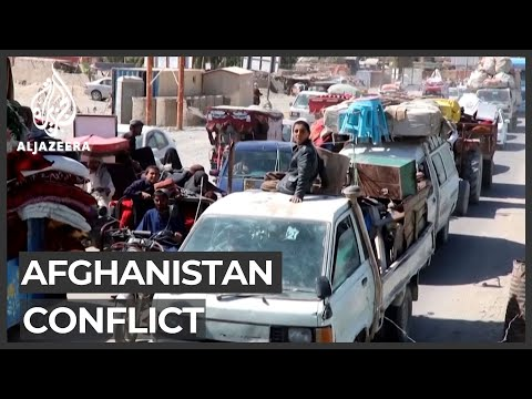 Afghanistan fighting forces thousands to flee