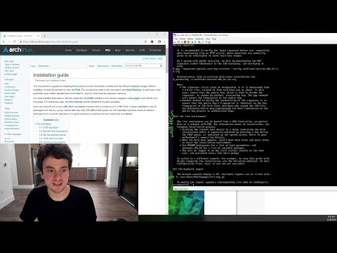 George Hotz | Programming | installing arch linux (real noob ish)
