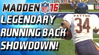 WALTER PAYTON VS CURTIS MARTIN! LEGENDARY RUNNING BACK SHOWDOWN! - Madden 16 Draft Champions!