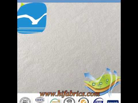 Waterproof Terry towel PU laminated cotton baby printed fabric
