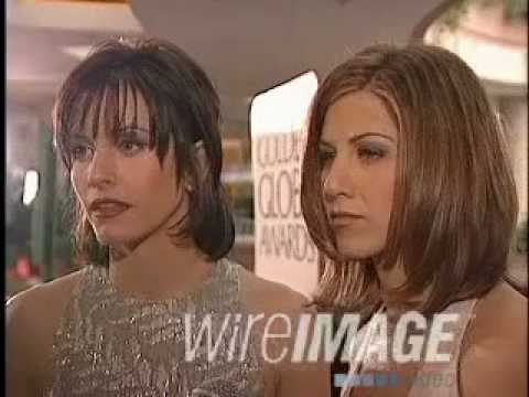 Courteney Cox,Jennifer Aniston 1996 Golden Globes Awards