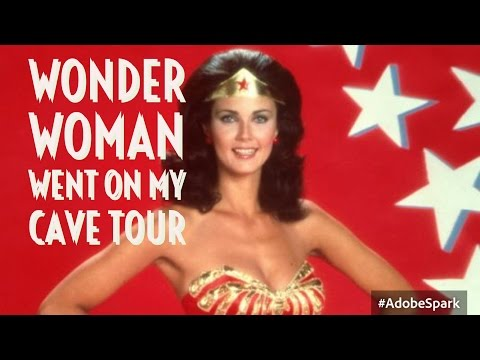 Wonder Woman went on my cave tour!