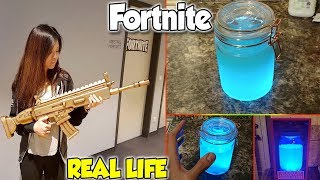 Fortnite in real life - weapons, potions, outfits & dances from Fortnite in Real Life