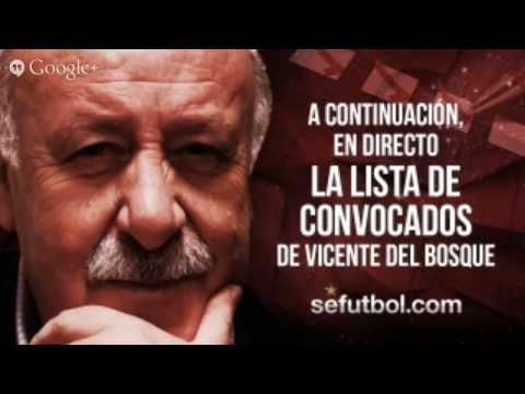 Vicente del Bosque ofrece la lista de convocados para los amistosos de Guinea Ecuatorial y Sudáfric