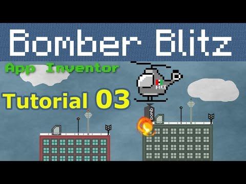 App Inventor Bomber blitz | helicopter bomber tutorial p03