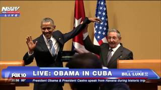 WEIRD: Cuba President Castro Just Dangled President Obama's Arm - FNN