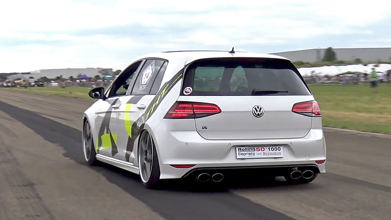 Volkswagen golf 7 r tht performance 500hp vs ferrari f430 vs focus rs