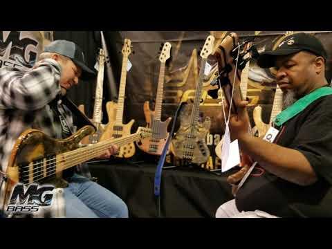 mg-bass-namm-show-andy-irvine-&-tyrone-ruffini---new-model-africa-&-desert-summer-5-strings